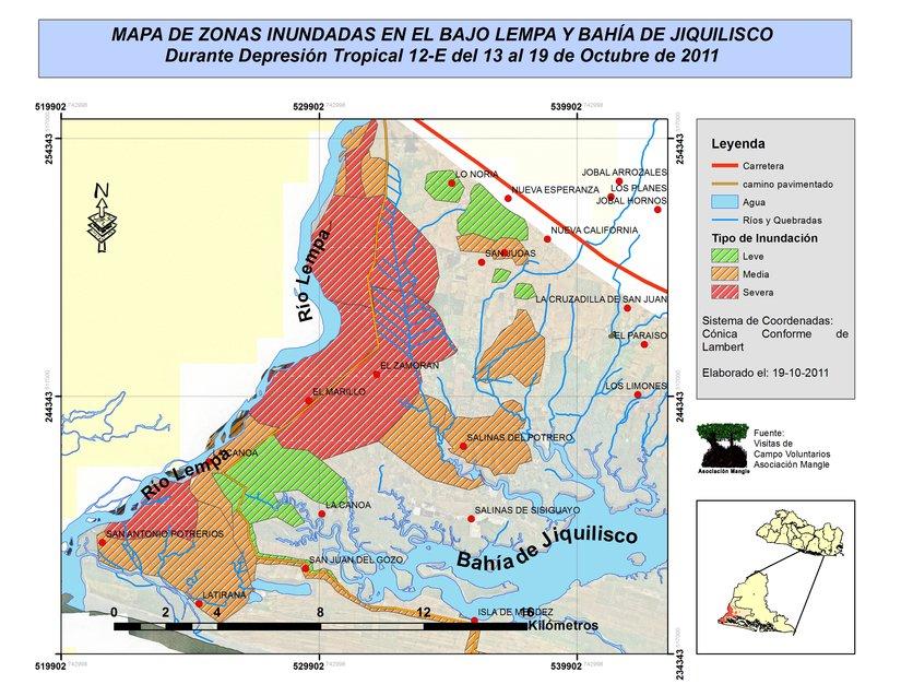 Map by Asociacion Mangle