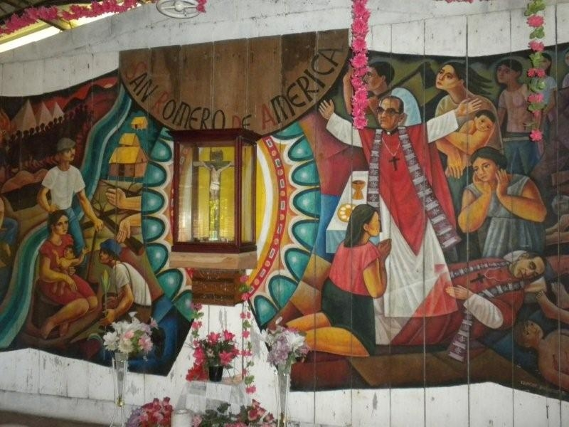 Mural in Cuidad Romero.  Photo: Ted Wysocki