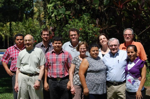 Partial EcoViva and Mangrove Association Boards with EcoViva staff in El Salvador.