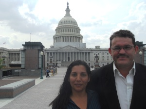 Local leaders from El Salvador in between advocacy meetings in Washington D.C. last June. Leaders returned this June to meet with Congressional leaders and government agencies